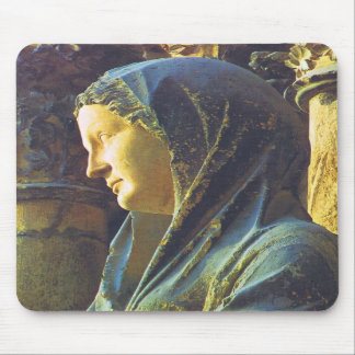 Statue of the Virgin Mary Mouse Pads