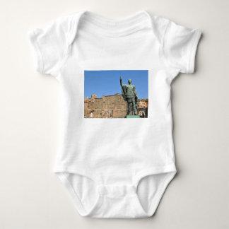 Statue of Trajan in Rome, Italy Baby Bodysuit