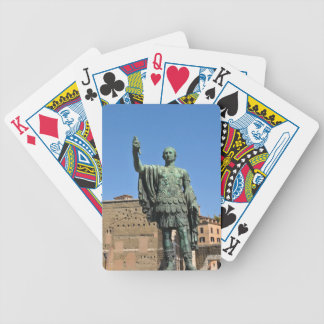 Statue of Trajan in Rome, Italy Bicycle Playing Cards