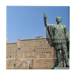 Statue of Trajan in Rome, Italy Ceramic Tile