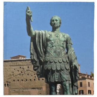 Statue of Trajan in Rome, Italy Napkin