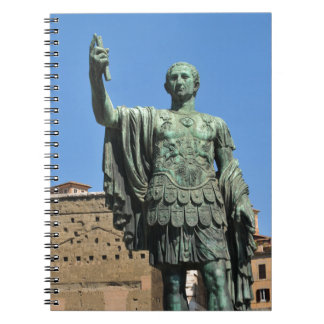 Statue of Trajan in Rome, Italy Notebook