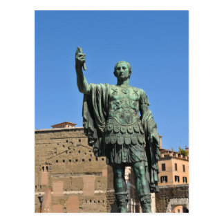 Statue of Trajan in Rome, Italy Postcard