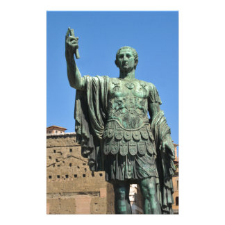 Statue of Trajan in Rome, Italy Stationery