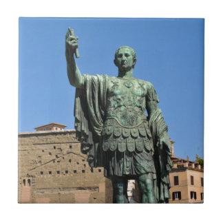Statue of Trajan in Rome, Italy Tile