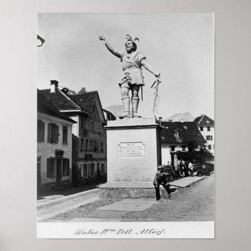 Statue of William Tell, c.1860-90 Print