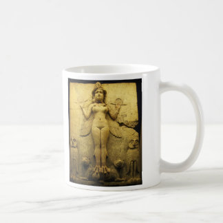 Statue Relief of the Goddess Ishtar Mugs