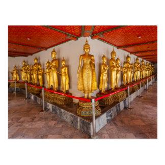 Statues at Wat Pho in Bangkok Thailand Postcard