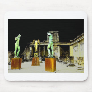 Statues in Pompeii Italy - Beautiful Discovery Mouse Pad