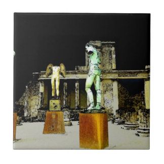 Statues in Pompeii Italy - Beautiful Discovery Tile