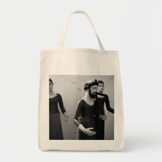 Statues of catholic saints grocery tote bag