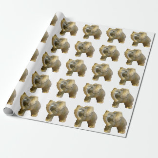 Statuette African Bull Elephant Wrapping Paper