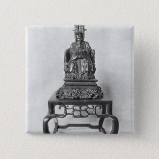 Statuette of Confucius as a Mandarin, Qing 15 Cm Square Badge