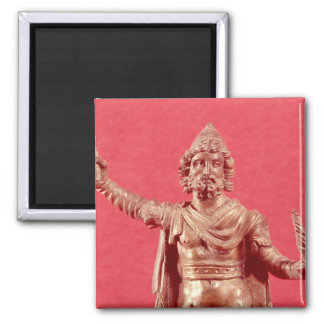 Statuette of Jupiter Dolichenus Square Magnet