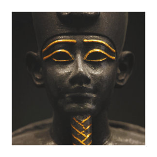Statuette of Late Period Egyptian God Osiris Stretched Canvas Print