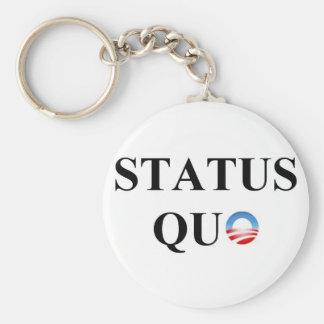 STATUS QUO BASIC ROUND BUTTON KEY RING