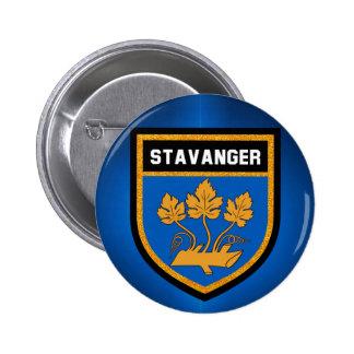 Stavanger  Flag 6 Cm Round Badge