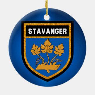 Stavanger  Flag Ceramic Ornament