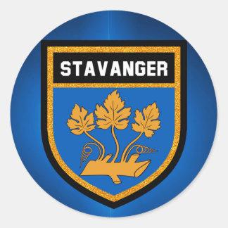 Stavanger  Flag Classic Round Sticker
