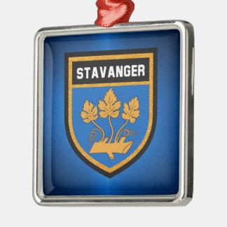 Stavanger  Flag Metal Ornament