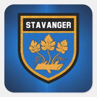 Stavanger  Flag Square Sticker
