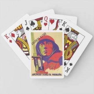 Stay alert! (1937)_Propaganda Poster Playing Cards