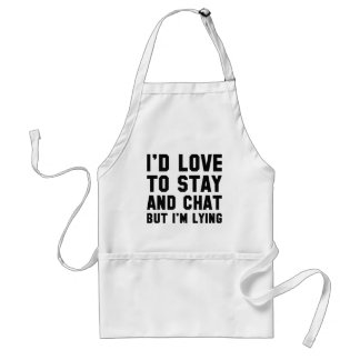 Stay And Chat Standard Apron