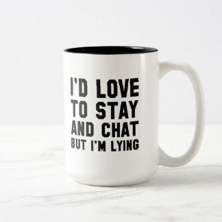 Stay And Chat Two-Tone Coffee Mug