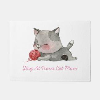 Stay At Home Cat Mom Door Mat