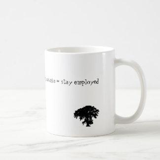 stay awake = stay employed coffee mug