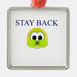 Stay back Silver-Colored square decoration