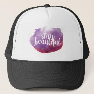 Stay Beautiful watercolor Trucker Hat