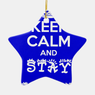 Stay Calm and Stay Focused_ Ceramic Star Decoration