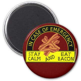 Stay Calm Eat Bacon Magnet Fridge Magnets
