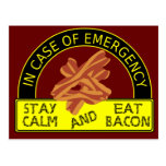 Stay Calm, Eat Bacon Postcard