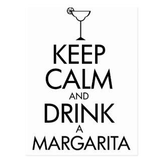 Stay Calm Margarita T-shirt Postcard