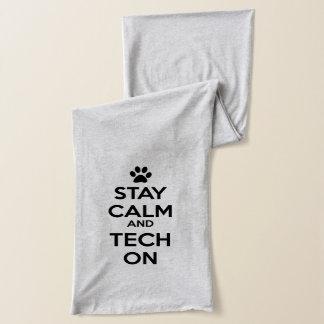 stay calm vet tech scarf