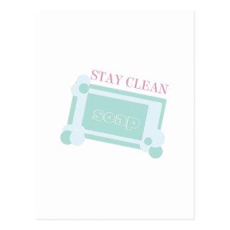 Stay Clean Postcard