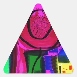 stay cool triangle sticker