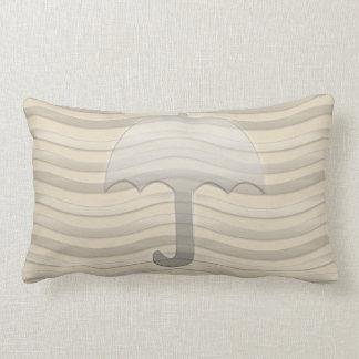 Stay Cozy Beige Grey Umbrella Pillow