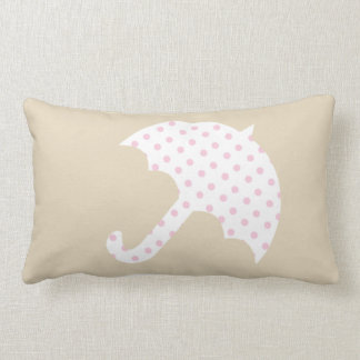 Stay Cozy Patterned Umbrella Beige Pillow