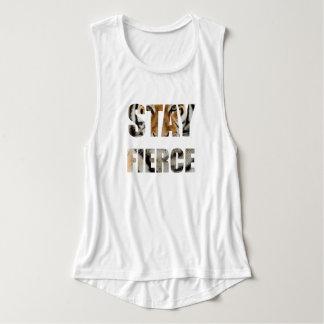 Stay Fierce Flowy Muscle Tank Top