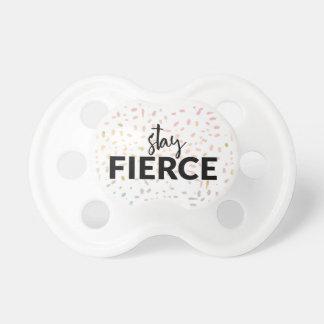 Stay Fierce - Multi Color Pattern Baby Pacifier