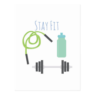Stay Fit Post Card