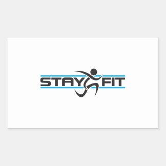 STAY FIT RUNNER RECTANGULAR STICKER