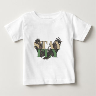 Stay Fly - Bald Eagle - Hunter Green Baby T-Shirt
