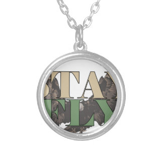 Stay Fly - Bald Eagle - Hunter Green Silver Plated Necklace