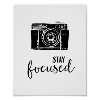 Stay Focused Camera Print