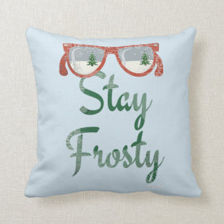 Stay Frosty Winter Saying Cushion