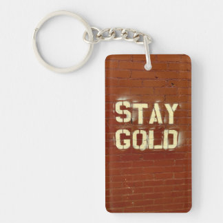 Stay Gold Keychain